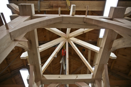 bell tower bearded rafters
