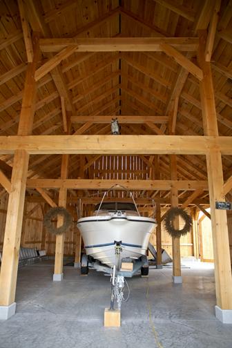 32 X 48 Queen Post Barn Brunswick Timber Frames Inc