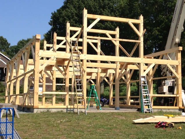 32 X 48 Queen Post Barn Brunswick Timber Frames Inc
