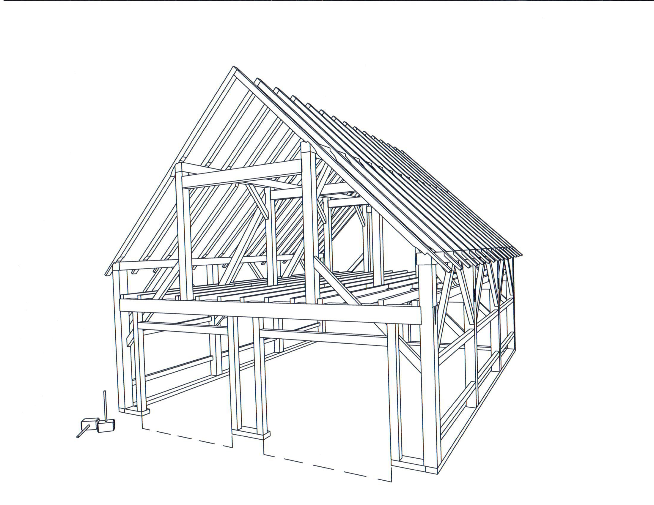 Design and building process brunswick timber frames inc for 26 x 36 garage